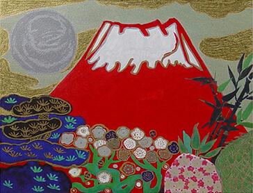 日本画 めで多き富士 片岡球子の作品