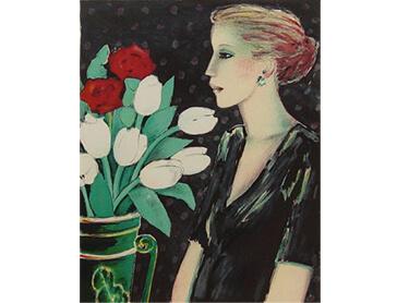 洋画 チューリップとプロフィール カシニョールの作品