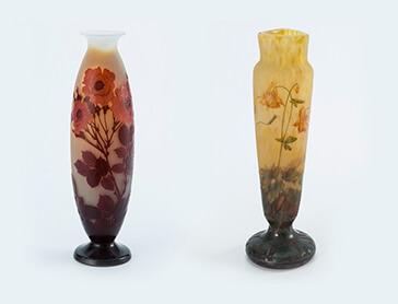 洋アンティーク 花瓶 エミール・ガレの作品