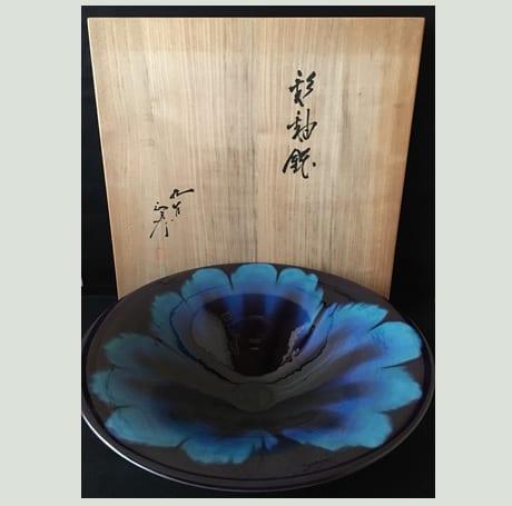 彩釉鉢(正彦銘)