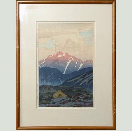 日本アルプス十二題 劔山の朝