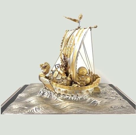 銀製 宝船