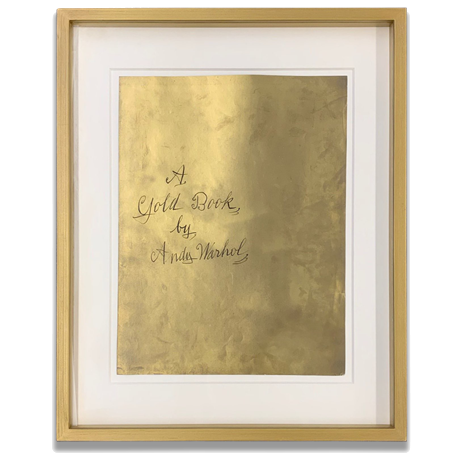 A Gold Book Cover