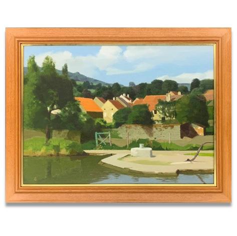 運河のある村