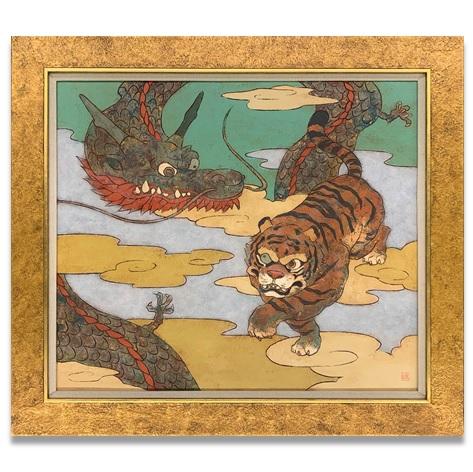 瀧下和之 龍虎図 10号