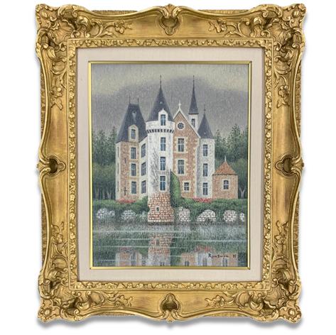 水辺の古城