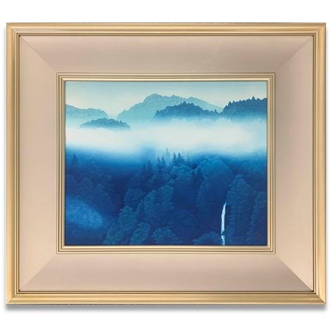 東山魁夷 青い谷 木版画