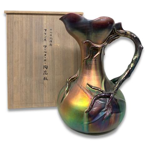 アールヌーボー陶花瓶