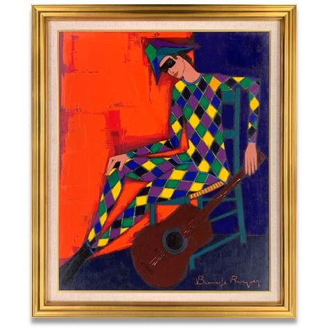 ボナフェ アルルカンと緑の椅子 25号 油彩画